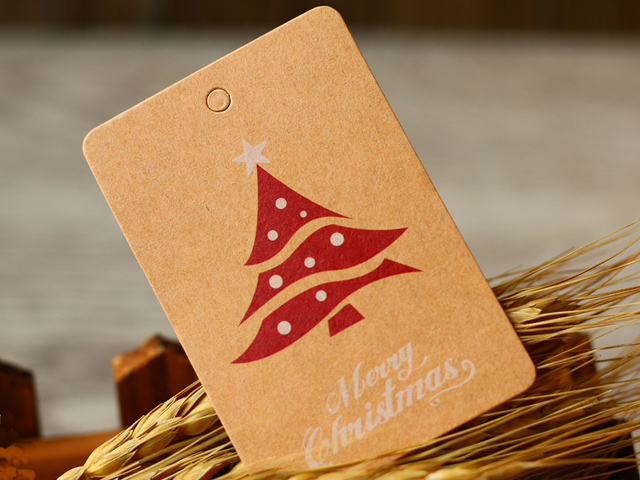 Craft paper tag